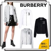 Burberry Blended Fabrics Street Style Long Sleeves Plain Cotton