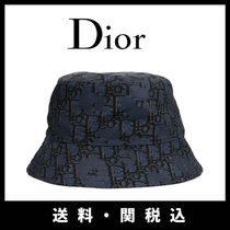 Christian Dior Unisex Street Style Bucket Hats Wide-brimmed Hats