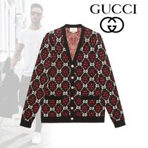 GUCCI Button-down Blended Fabrics Street Style Cotton Cardigans