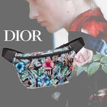 DIOR HOMME Flower Patterns Tropical Patterns Unisex Nylon Hip Packs