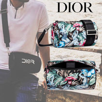 DIOR HOMME Flower Patterns Tropical Patterns Unisex Nylon 2WAY