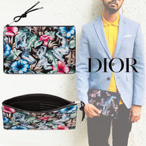 DIOR HOMME Flower Patterns Tropical Patterns Unisex Nylon Bag in Bag