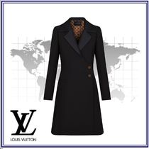 Louis Vuitton Star Wool Blended Fabrics Plain Long Elegant Style Coats