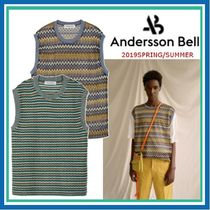 ANDERSSON BELL Stripes Unisex Street Style Vests & Gillets