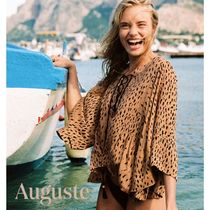 Auguste Leopard Patterns Cropped Medium Shirts & Blouses