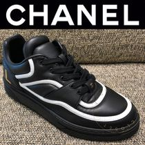CHANEL SPORTS Plain Toe Rubber Sole Casual Style Street Style Oversized