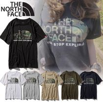 THE NORTH FACE Unisex Plain Short Sleeves Logo T-Shirts