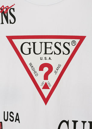 Guess More T-Shirts Unisex Street Style T-Shirts 5