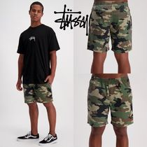 STUSSY Camouflage Street Style Cotton Shorts