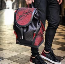 Christian Louboutin Street Style Bi-color Leather With Jewels Backpacks