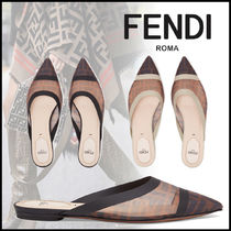 FENDI Monogram Elegant Style Sandals