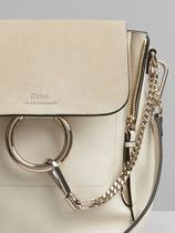 Chloe Faye Blended Fabrics 3WAY Plain Leather Elegant Style Backpacks