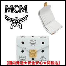 MCM Monogram Unisex Street Style Folding Wallets