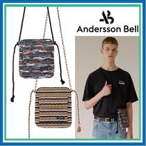 ANDERSSON BELL Stripes Unisex Street Style Messenger & Shoulder Bags