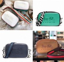 Coach Casual Style Street Style Bi-color Leather Hip Packs