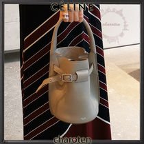 CELINE Big Bag Calfskin 2WAY Chain Plain Elegant Style Crossbody
