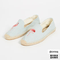 SOLUDOS Plain Toe Rubber Sole Casual Style Plain