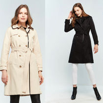 kate spade new york Plain Medium Khaki Trench Coats