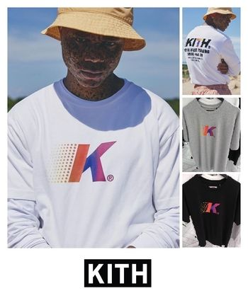 KITH NYC Henley Henry Neck Street Style Plain Cotton Short Sleeves
