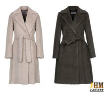 MaxMara Wool Plain Medium Office Style Chester Coats
