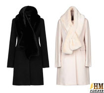 MaxMara Wool Plain Medium Elegant Style Chester Coats