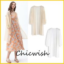 Chicwish Casual Style Cropped Long Lace Gowns Cardigans