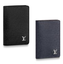 Louis Vuitton Other Check Patterns Street Style Leather Folding Wallets