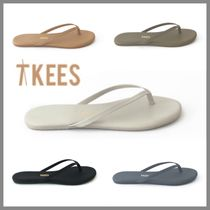 TKEES Rubber Sole Casual Style Faux Fur Sandals