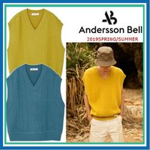 ANDERSSON BELL Cable Knit Unisex Wool Street Style Plain Vests & Gillets