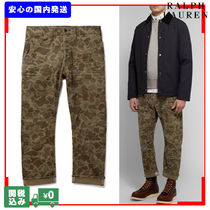 POLO RALPH LAUREN Tapered Pants Camouflage Street Style Cotton Tapered Pants