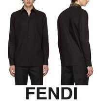 FENDI FOREVER Plain Cotton Short Sleeves Oversized Shirts