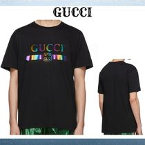 GUCCI Crew Neck Street Style Plain Cotton Short Sleeves