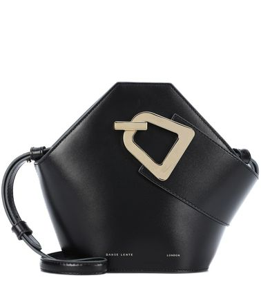 2WAY Plain Leather Elegant Style Crossbody