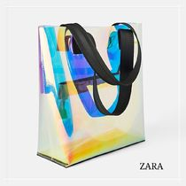ZARA Crystal Clear Bags Totes