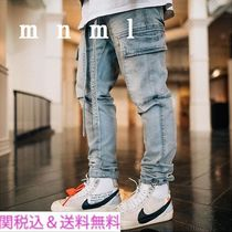 MNML Denim Blended Fabrics Street Style Plain Jeans & Denim