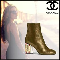 CHANEL Party Style Ankle & Booties Boots
