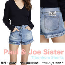 PAUL & JOE sister Short Casual Style Denim Plain Denim & Cotton Shorts
