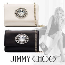 Jimmy Choo 2WAY Chain Plain Party Style With Jewels Clutches