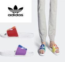 adidas ADILETTE Stripes Unisex Street Style Shower Shoes Shower Sandals