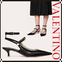 VALENTINO Leather Kitten Heel Pumps & Mules