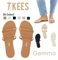 TKEES Plain Toe Casual Style Faux Fur Plain Flip Flops