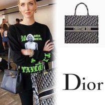 Christian Dior Casual Style Unisex A4 Totes