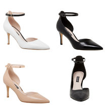 Nine West Plain Pin Heels Office Style Pointed Toe Pumps & Mules