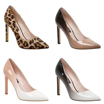 Pin Heels Office Style Pointed Toe Pumps & Mules