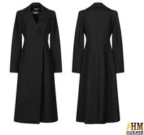 MaxMara Wool Plain Long Midi Office Style Chester Coats