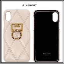 GIVENCHY Plain Leather Smart Phone Cases