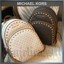 Michael Kors Monogram Casual Style Unisex Studded PVC Clothing Backpacks