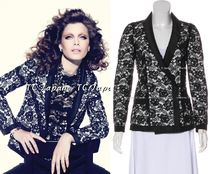 CHANEL TIMELESS CLASSICS CHANEL $5650 Black Lace Jacket F34