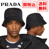 PRADA Street Style Wide-brimmed Hats