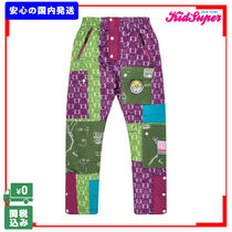 Printed Pants Unisex Street Style Patterned Pants